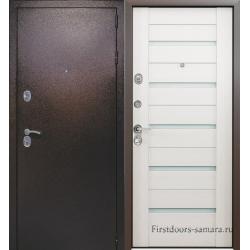 Стальная дверь Комета Дуб беленый