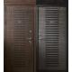 Стальная дверь Тайгер Амур (венге патина/грей патина). С капителием и без