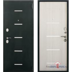 Стальная дверь Тайгер Стиль (муар/белый сандал)