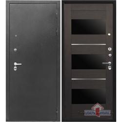 Стальная дверь Тайгер Трио Экошпон (серебро/орех рифленый)