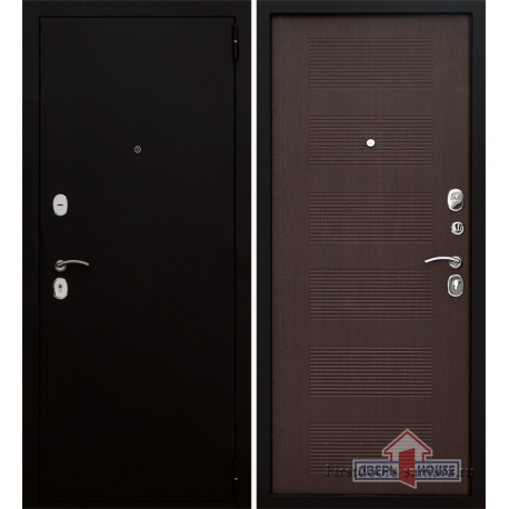 Стальная дверь Тайгер Муар 2 ПП (муар/орех тисненый)