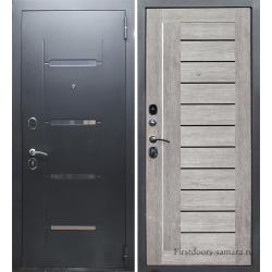 Стальна дверь Тайгер Стиль Царга (муар с блестками/грей)