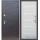 Стальная дверь Тайгер Вираж царга (черный муар/кремовая лиственница)