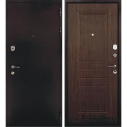 Стальная дверь Тайгер Трио (медь/тёмный орех)