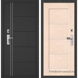 Стальная дверь Форпост 128C беленый дуб