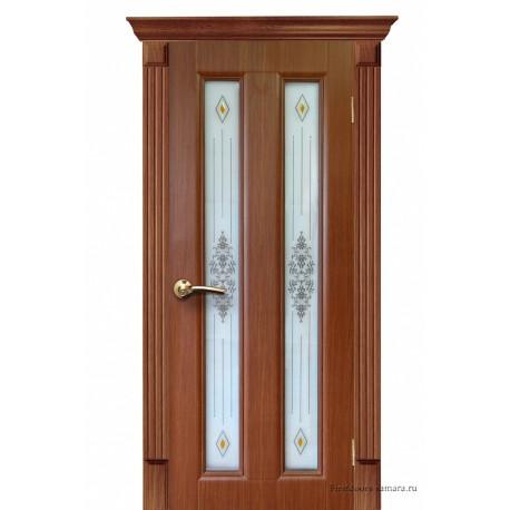 Межкомнатная дверь ДО Екатерина 2 дуб темный