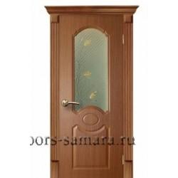 Межкомнатная дверь ДО Лилия дуб темный