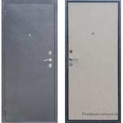 Стальная дверь Тайгер эконом Серебро-беленый дуб