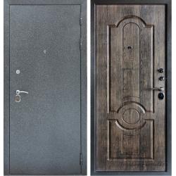 Стальная дверь Тайгер Трио серебро-мореный дуб