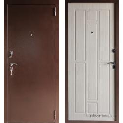 Стальная дверь Тайгер Стандарт медь беленый дуб