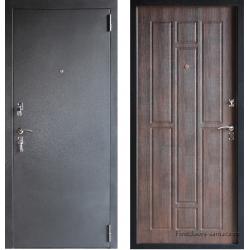 Стальная дверь Тайгер Стандарт серебро тиковое дерево