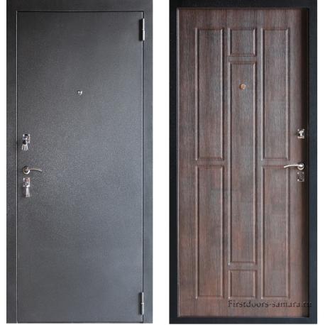 Стальная дверь Тайгер серебро тиковое дерево