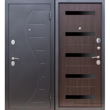 Стальная дверь  Тайгер Вираж (чёрный муар/венге)