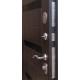 Стальная дверь Вираж штамп (черный муар/орех рифленый)