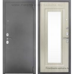 Стальная дверь Тайгер Зеркало Дива кремовая лиственница