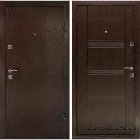 Стальная дверь  Комфорт Венге, Дверной Континент
