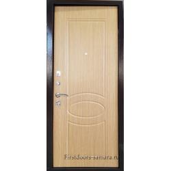 Стальная дверь Тайгер Оптима 2 (антик медный/дуб светлый)