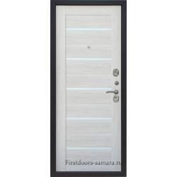 Стальная дверьТайгер Муар Царга (антик медь/сандал белый)