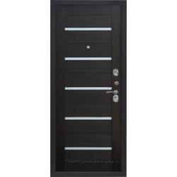 Стальная дверь Тайгер Муар Царга (антик медь/венге тисненый)
