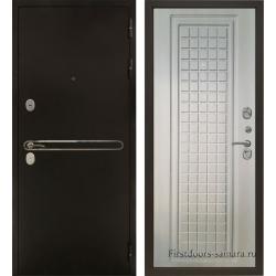 Стальная дверь Тайгер Сотка Трио (антик медь/дуб филадельфия)