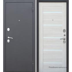 Стальная дверь Тайгер Муар Царга кремовая лиственница