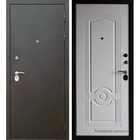 Стальная дверь Тайгер Трио шелк-беленый  дуб