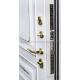 Стальная дверь Тайгер Версаль (белый патина/белый патина). С капителием