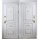 Стальная дверь Тайгер Версаль (белый патина/белый патина). С капителием или без
