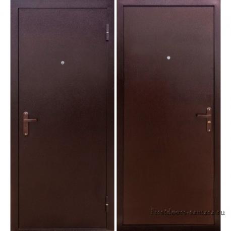 Стальная дверь Тайгер Эко Мет/Мет (медь/медь)