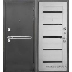 Стальная дверь Тайгер Рио (антик серебро/эшвайт)
