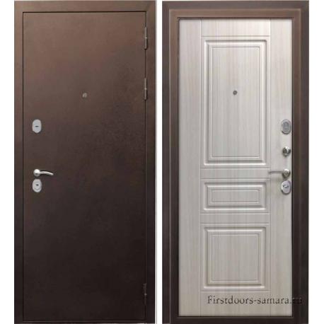 Стальная дверь Тайгер Сити сандал белый