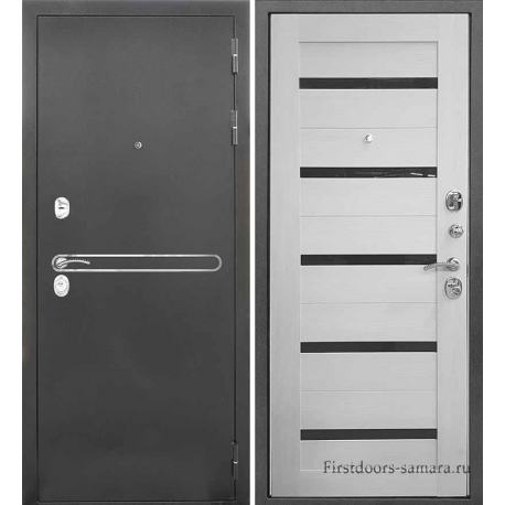 Стальная дверь Тайгер Сотка Трио Царга (антик серебро/эшвайт)