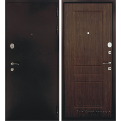 Стальная дверь Тайгер Сити (антик медь/тёмный орех)