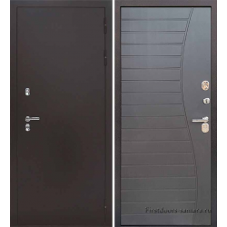 Стальная дверь Тайгер Термо Лайт (антик медь/венге премиум)