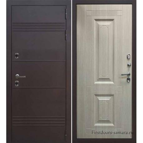 Стальная дверь Тайгер Термо (медь/кремовая лиственница)