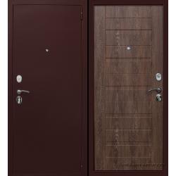Стальная дверь Тайгер Хит медь / Шале корица
