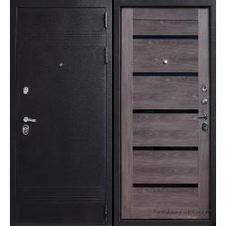 Стальная дверь Тайгер WIDE (шёлк чёрный/дуб шале)