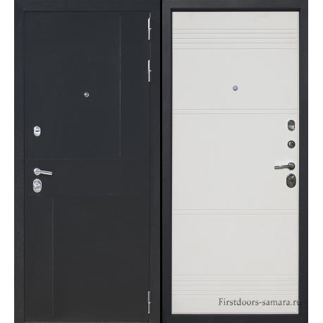 Стальная дверь Тайгер SOFT (шёлк чёрный/милк софт)