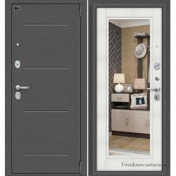 Стальная дверь ДС Porta S-2 104/П61 Bianco Veralinga/Антик Серебро