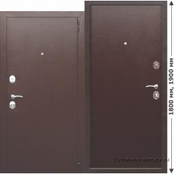 Стальная дверь Гарда мини металл-металл 6 см