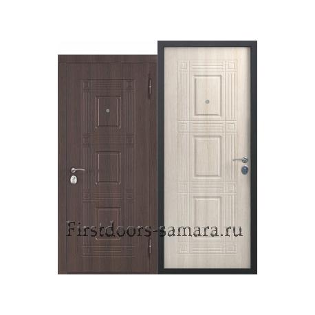 Стальная дверь Виктория Лиственница мокко