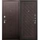 Стальная дверь Палермо медный антик Венге