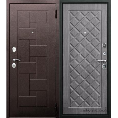 Стальная дверь Палермо медный антик Венге Тобакко