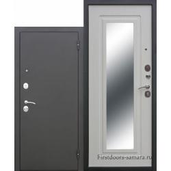 Стальная дверь Царское зеркало МУАР Белый ясень