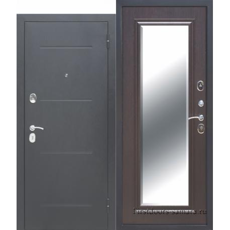 Стальная дверь Гарда Серебро Зеркало Фацет Венге