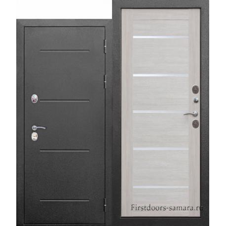 Стальная дверь Isoterma СЕРЕБРО Лиственница беж Царга