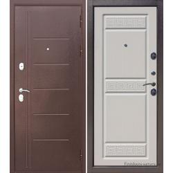 Стальная дверь Троя Антик Белый ясень