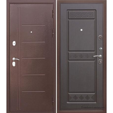 Стальная дверь Троя Антик Венге