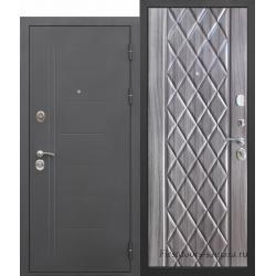 Стальная дверь Троя Муар Палисандр темный