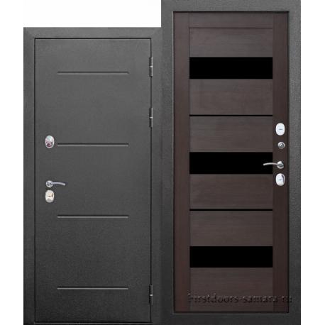 Стальная дверь Isoterma СЕРЕБРО Темный кипарис